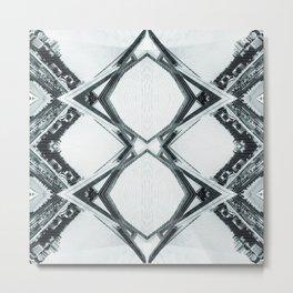 Reflected Bridges Metal Print