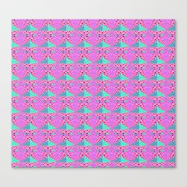 Ultra HD Retro Fractal Geometric Pop Canvas Print