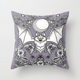 A Bat's Favorite Things Throw Pillow