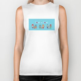Love is Love Blue - We Are All Equal Biker Tank