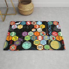 Math in color Black B Rug