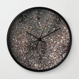 Silver Glitter #1 #decor #art #society6 Wall Clock