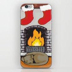 Canine Christmas (Fireside) iPhone & iPod Skin
