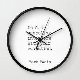 Mark Twain quote bq Wall Clock