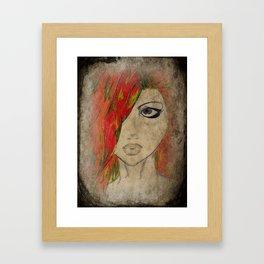 Grunge Red Framed Art Print
