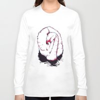 swan Long Sleeve T-shirts featuring Swan by Oxana Art