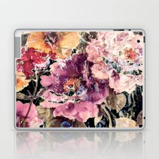 Mauve and Gold Floral Pattern Laptop & iPad Skin
