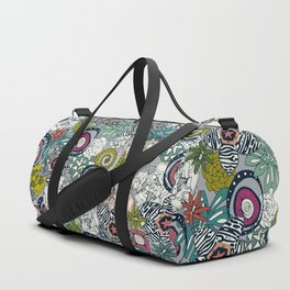 succulents multi light Duffle Bag