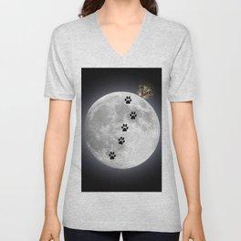 space cat Unisex V-Neck