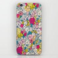 vintage flowers iPhone & iPod Skins featuring Vintage flowers by Love2Snap