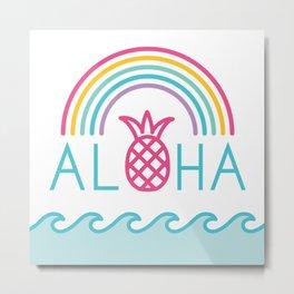 Aloha Rainbow Metal Print