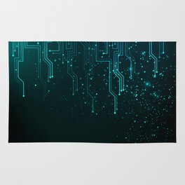 Abstract blue lights background Rug