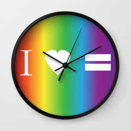 I heart Equality Wall Clock