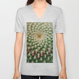 Cactus close-up shot, natural abstract background Unisex V-Neck