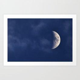 Waxing Crescent Moon Art Print