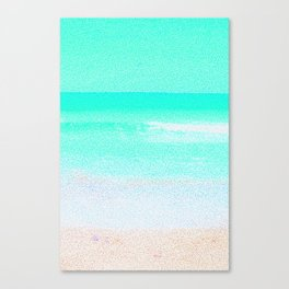 Blissful Beach - Turquoise Wave Canvas Print