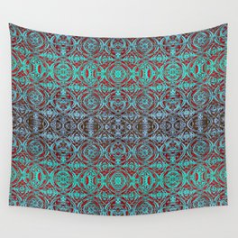 Psychedelic Ironwork Pattern Wall Tapestry