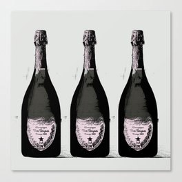 Champagne Pink party Graphic illustration Canvas Print