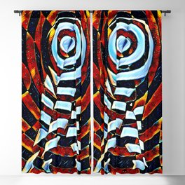 7023-LB Interdimensional Target of Love Abstract Booty Up Blackout Curtain