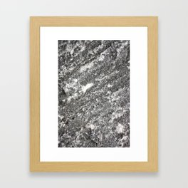 Granite Stone Framed Art Print