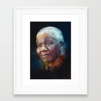 mandela Framed Art Prints featuring Mandela by turksworks