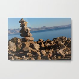 Stone Stack Metal Print