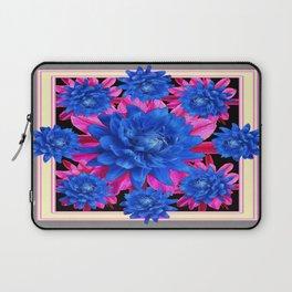 Decorative Blue-Purple Tropical Grey Floral Laptop Sleeve