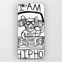 hiphop iPhone & iPod Skins featuring I AM HIPHOP  by Geryes
