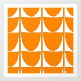 Mid-Century Modern Pattern In Breathtaking Butterscotch-Tangerine Art Print
