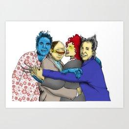 The Uncanny Seinfeld Art Print