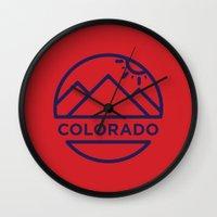 colorado Wall Clocks featuring Colorado by BMaw