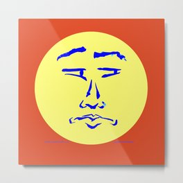 Suspicious Face (Not So Happy) Metal Print
