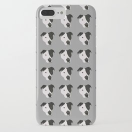 Black and White Pit Bull iPhone Case