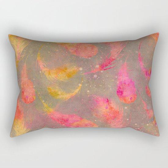 Feather pink and orange Rectangular Pillow