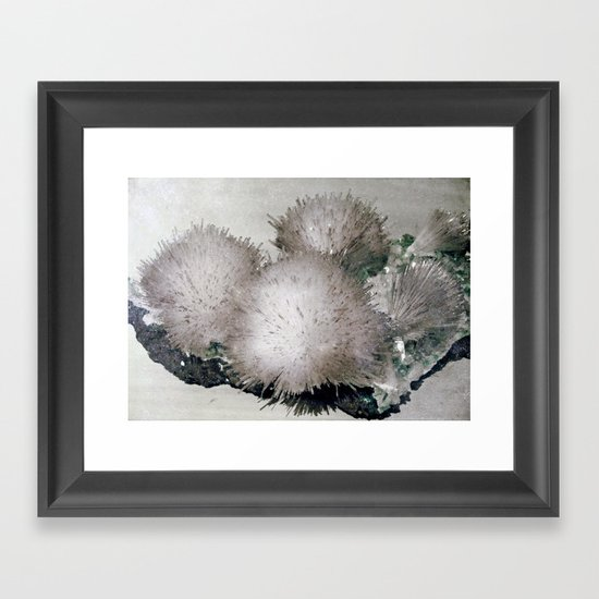 Furry Crystal  Framed Art Print