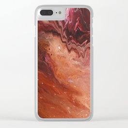 Ruby Wave Clear iPhone Case