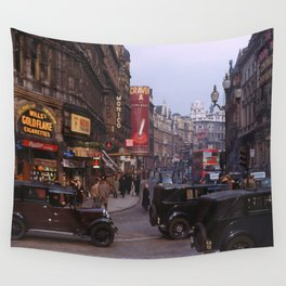 Piccadilly London Kodachrome Wall Tapestry
