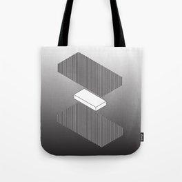 GHOSTBOX WHITE SANDWICH STRIPE Tote Bag