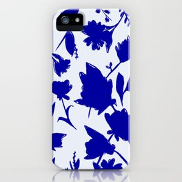 Floral Blue Shadow iPhone Case