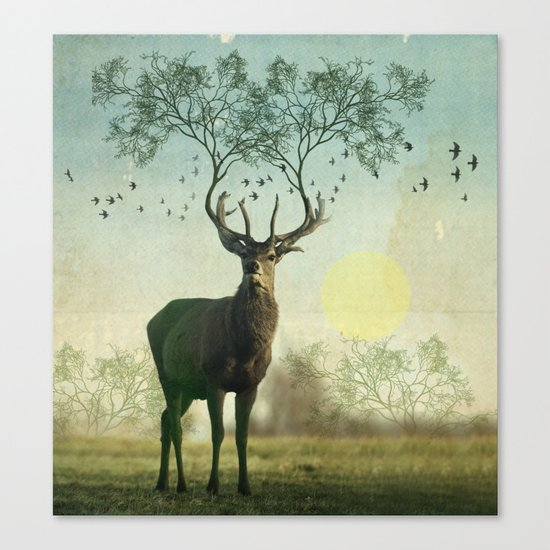 Evergreen Stage Horn Canvas Print