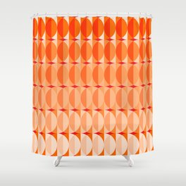 Leaves at sunset - a pattern in orange and red Shower Curtain