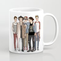 one direction Mugs featuring One Direction by vulcains