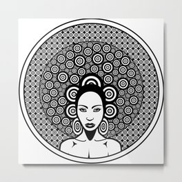 Sixties woman black and white Metal Print