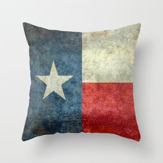 State flag of Texas, Lone Star Flag of the Lone Star State Throw Pillow