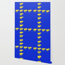 Graphic Swedish Elk Flag III Wallpaper