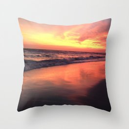 Colors of the Sea Throw Pillow