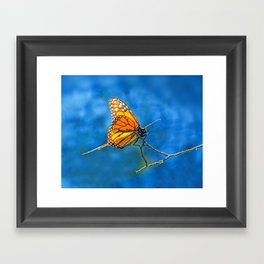 BUTTERFLY LIGHT Framed Art Print