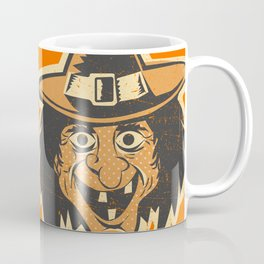 Retro Creepy Halloween Witch Mask Face Coffee Mug
