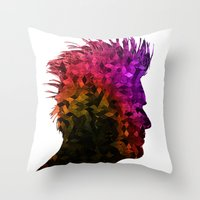 punk Throw Pillows featuring punk by KrisLeov