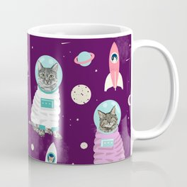 Space Cats pet portraits cute cat gifts cat lady outer space cadet rockets Coffee Mug